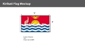 Kiribati Flags 3x5 foot