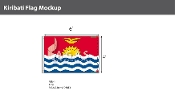 Kiribati Flags 4x6 foot