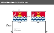 Kiribati Car Flags 10.5x15 inch Premium