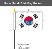 Korea South Stick Flags 4x6 inch