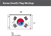 Korea South Flags 12x18 inch