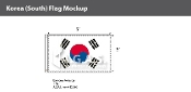 Korea South Flags 3x5 foot