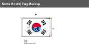 Korea South Flags 4x6 foot