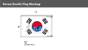 Korea South Flags 8x12 foot