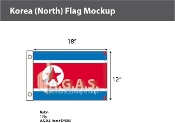 Korea North Flags 12x18 inch