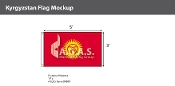 Kyrgyzstan Flags 3x5 foot