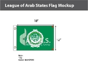 League of Arab States Flags 12x18 inch