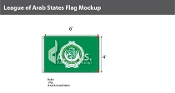League of Arab States Flags 4x6 foot