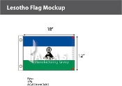 Lesotho Flags 12x18 inch