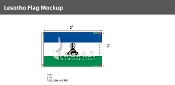 Lesotho Flags 3x5 foot