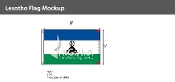 Lesotho Flags 5x8 foot