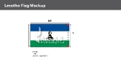 Lesotho Flags 6x10 foot