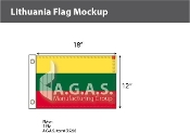 Lithuania Flags 12x18 inch