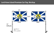 Lord Howe Island Car Flags 10.5x15 inch Premium
