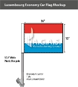 Luxembourg Car Flags 12x16 inch Economy
