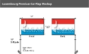 Luxembourg Car Flags 10.5x15 inch Premium