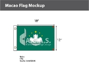Macao Flags 12x18 inch