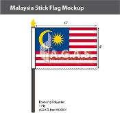 Malaysia Stick Flags 4x6 inch