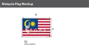 Malaysia Flags 4x6 foot