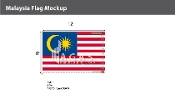 Malaysia Flags 8x12 foot