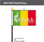Mali Stick Flags 4x6 inch
