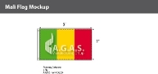 Mali Flags 3x5 foot
