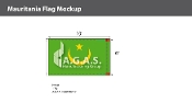 Mauritania Flags 6x10 foot