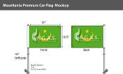 Mauritania Car Flags 10.5x15 inch Premium