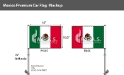 Mexico Car Flags 10.5x15 inch Premium