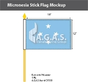 Micronesia Stick Flags 12x18 inch