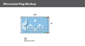 Micronesia Flags 6x10 foot