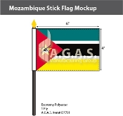 Mozambique Stick Flags 4x6 inch