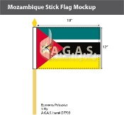Mozambique Stick Flags 12x18 inch