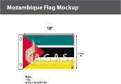 Mozambique Flags 12x18 inch