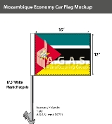 Mozambique Car Flags 12x16 inch Economy