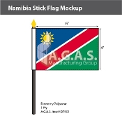 Namibia Stick Flags 4x6 inch