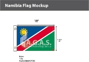 Namibia Flags 12x18 inch