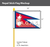 Nepal Stick Flags 12x18 inch