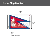 Nepal Flags 12x18 inch