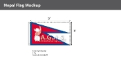Nepal Flags 3x5 foot