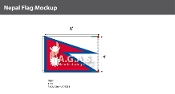 Nepal Flags 4x6 foot