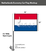 Netherlands Car Flags 12x16 inch Economy