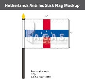 Netherlands Antilles Stick Flags 4x6 inch