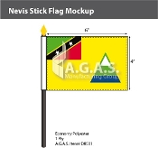 Nevis Stick Flags 4x6 inch