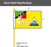 Nevis Stick Flags 12x18 inch