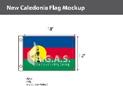 New Caledonia Flags 12x18 inch