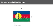 New Caledonia Flags 4x6 foot