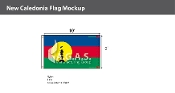 New Caledonia Flags 6x10 foot