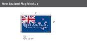 New Zealand Flags 3x5 foot
