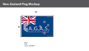 New Zealand Flags 8x12 foot
